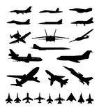 Symbols of planes Stock Photos
