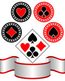 Symbols of playing cards. Royalty Free Stock Image