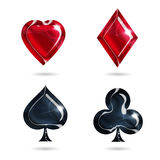 Symbols of playing cards Royalty Free Stock Images