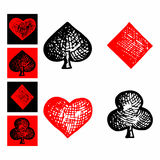 Symbols playing cards, suit icon Stock Photos