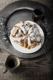 Symbols of Purim - Jewish Pasry Hamantaschen Stock Photo