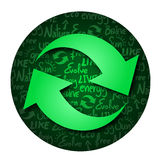Symbols recycle Stock Image