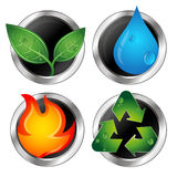 Symbols of renewable energy and recycling Royalty Free Stock Photos