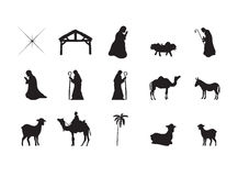 Symbols representing the birth of Jesus Christ Stock Photo