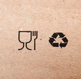 Symbols of restaurant and recycling Royalty Free Stock Image