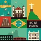 Symbols of Rio de Janeiro Royalty Free Stock Photography