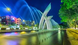 Symbols rise of a dynamic city of Saigon Stock Images
