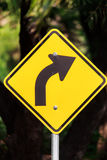 Symbols on the road. Stock Image