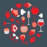 Symbols of romance. Royalty Free Stock Photos