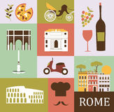 Symbols of Rome. Royalty Free Stock Photo