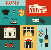 Symbols of Rome Royalty Free Stock Photography