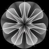 flower 3d geometry of nature stock illustration