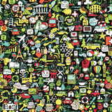 Symbols seamless pattern Stock Photography