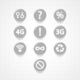 Symbols set web icon Stock Photography