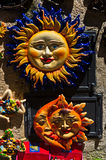 Symbols of Sicily as touristic souveniers at streets of Erice Royalty Free Stock Image