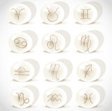 Symbols sign in spheres Stock Image
