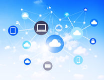 Symbols and Signs of Cloud Computing Stock Image