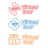 Symbols - signs for virtual tour. Illustration Stock Photography