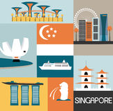 Symbols of Singapore. Stock Photo