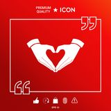 Heart shape made with hands. Symbols and sings - graphic elements for your design Stock Photo