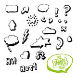 Symbols sketch Royalty Free Stock Images