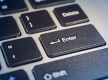 Symbols` skriver in ` på datortangentbordet royaltyfria bilder