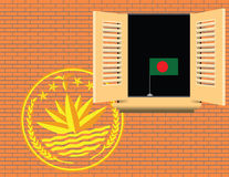 Symbols of statehood Bangladesh Stock Image