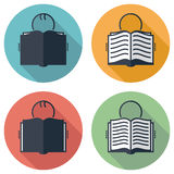 Symbols of student reading a book, vector  Stock Photos