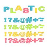 Symbols stylized colorful plastic Stock Photos