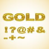 Symbols stylized gold Royalty Free Stock Images