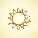 Symbols of sun. Vector illustration Royalty Free Stock Photos