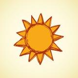 Symbols of sun. Vector illustration Royalty Free Stock Photography