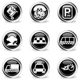 Symbols of taxi services Stock Image