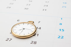 Symbols of time. Clock and calendar Royalty Free Stock Photos