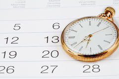 Symbols of time. Clock and calendar. Stock Image