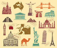 Symbols of travel Royalty Free Stock Image