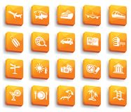 Travel buttons. Vector illustration Stock Photo
