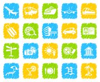 Travel Icons. Travel icons on buttons Royalty Free Stock Image
