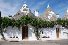 Symbols on Trulli Roofs, Puglia Stock Photo