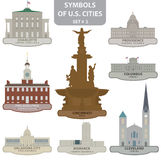 Symbols of US cities Royalty Free Stock Images