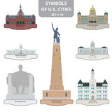 Symbols of US cities Royalty Free Stock Photography