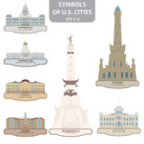 Symbols of US cities Stock Images