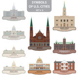 Symbols of US cities Stock Photo