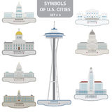 Symbols of US cities Stock Image