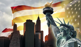 Symbols of USA and New York City Royalty Free Stock Image