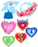 Symbols of Valentine's Day Royalty Free Stock Photo