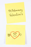 Symbols of Valentines Day drawn on paper, symbol of love Stock Photo