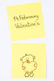 Symbols of Valentines Day drawn on paper, symbol of love Stock Images
