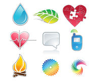 Symbols vector. A set of a glossy icons Royalty Free Stock Image