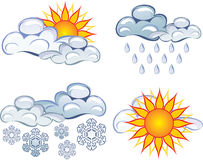 Symbols of the weather Stock Photography